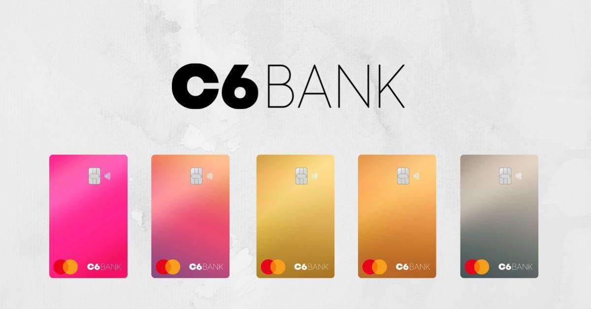 C6 Bank cartão cores