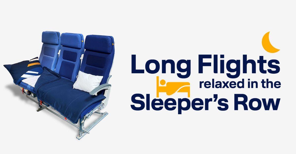Lufthansa assentos cama