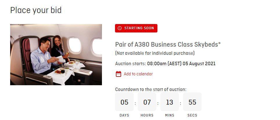 Qantas leilão