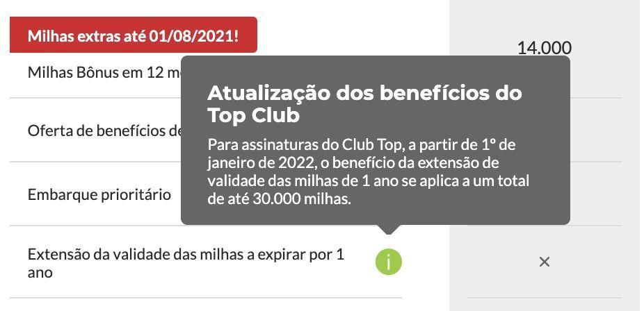 TAP Club validade milhas