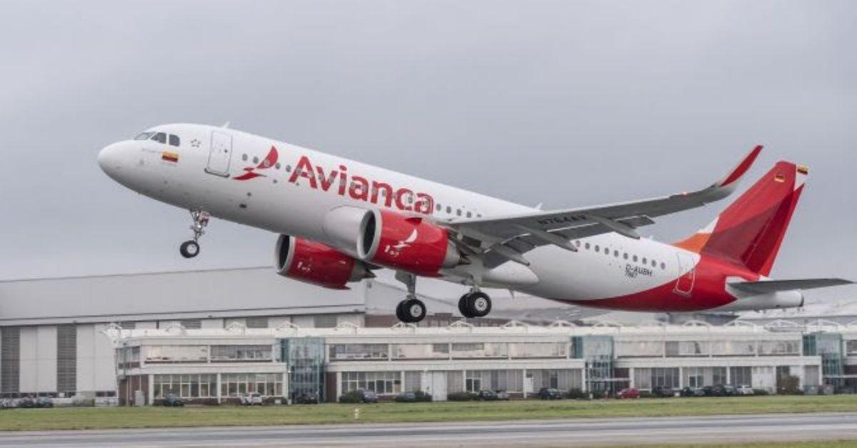 Avianca A320 reconfigurar