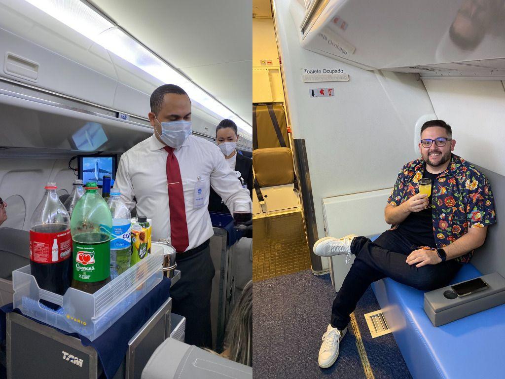 Bebidas e Lounge Pan Am