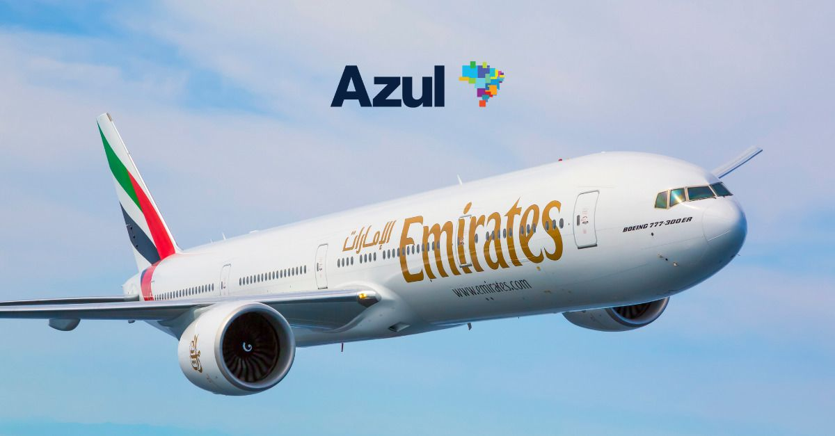 Azul Emirates acordo codeshare