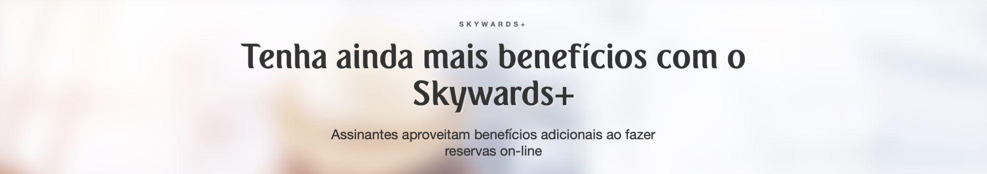 Emirates planos assinatura Skywards+