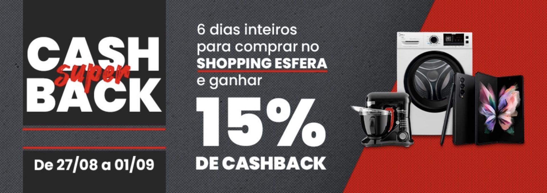 Esfera cashback 15%