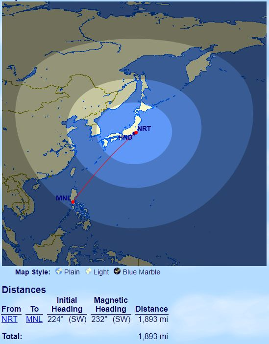 Passagem Japão Filipinas Avios