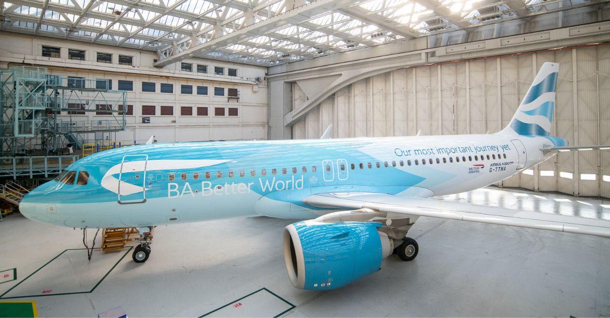 British Airways pintura sustentabilidade