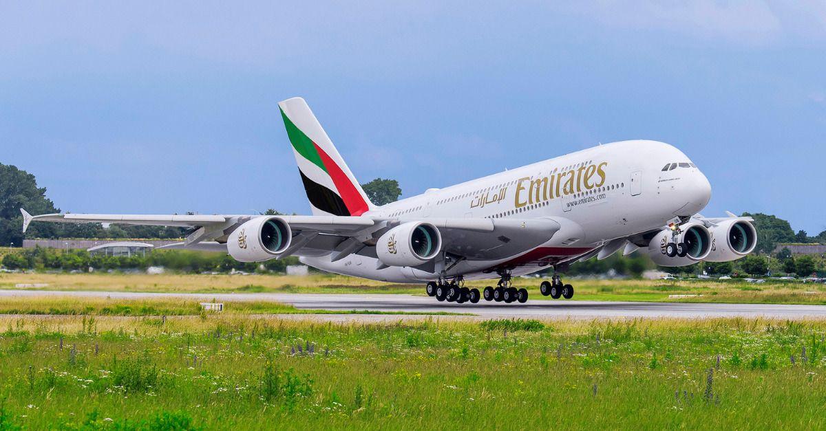 Emirates áfrica do sul A380