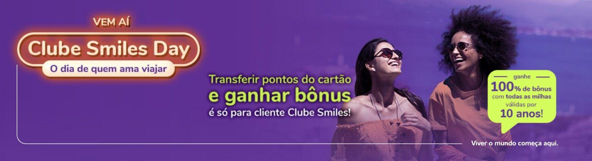 Smiles 100% bônus transferências