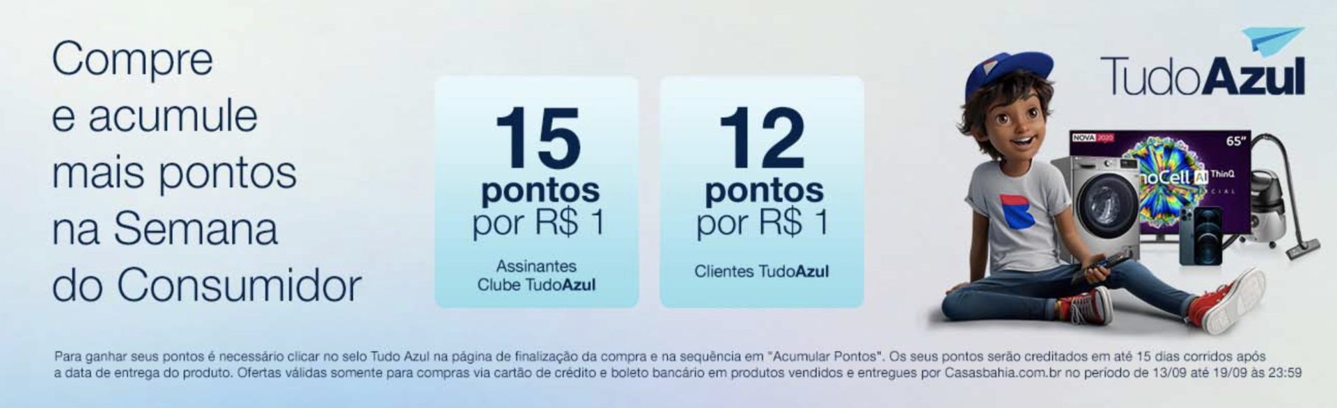 TudoAzul Bahia 15 pontos