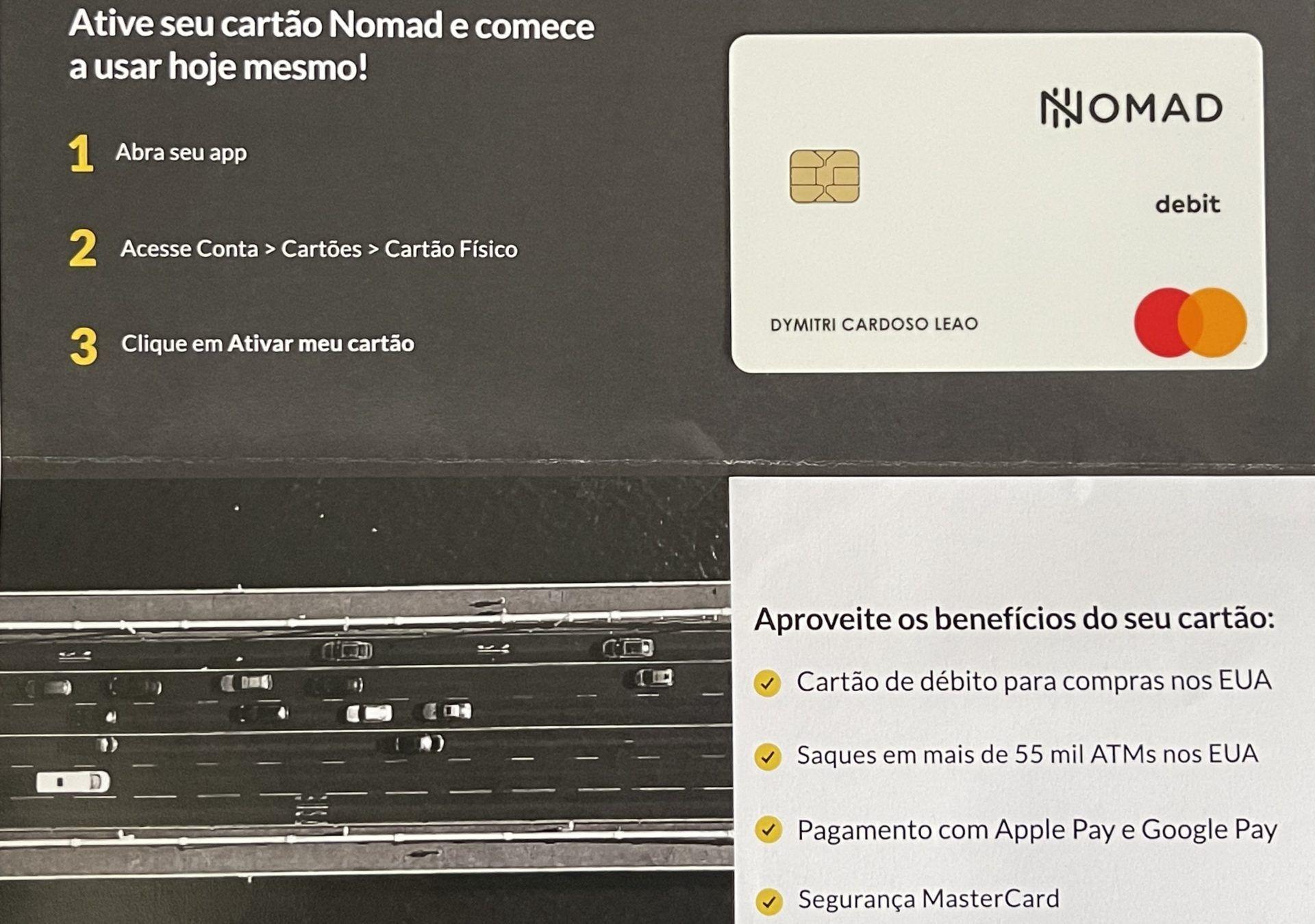 nomad cartão