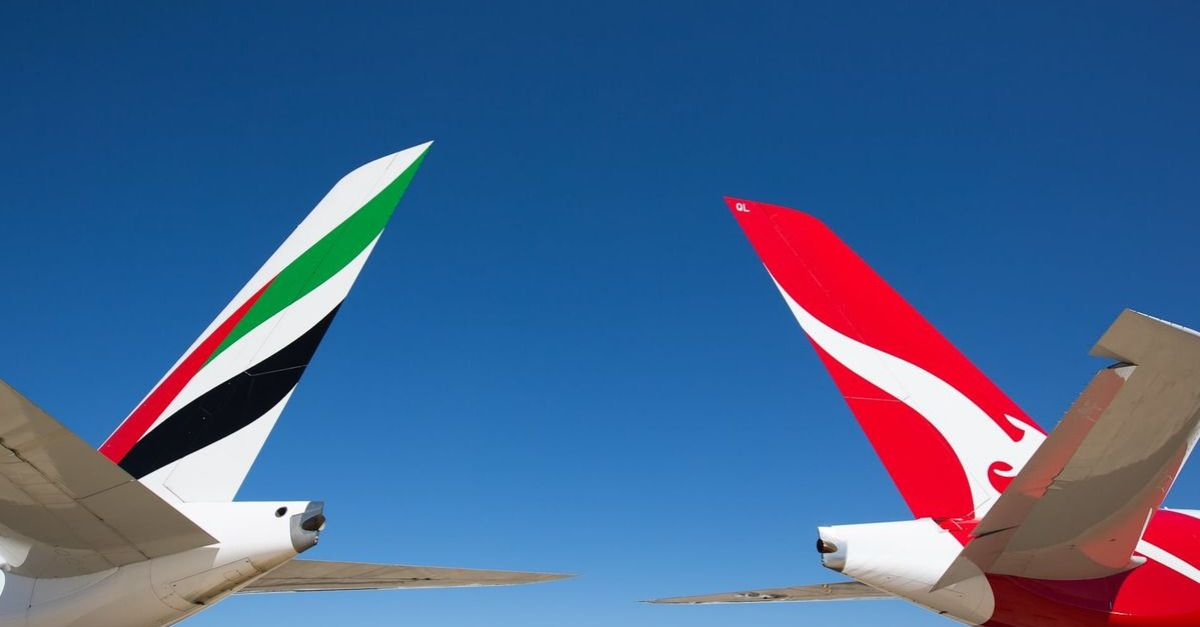 emirates qantas parceria
